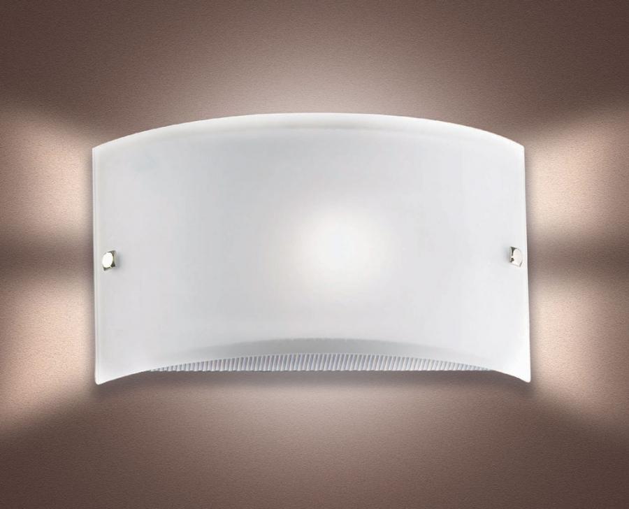Fascia applique sp montatura laccata bianca lampadina