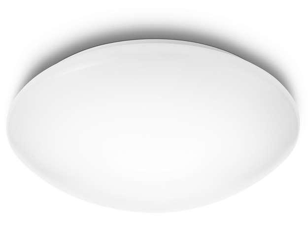 Plafoniera Per Esterno Philips : Suede plafoniera bianco freddo k in sintetico xled integrato