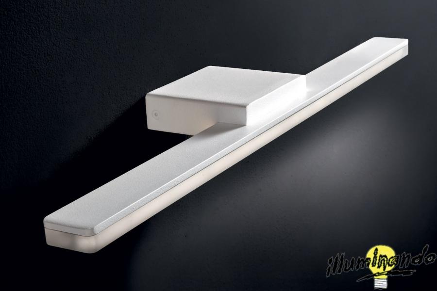 Airone applique l 50 5 h 3 sp 10 cm metallo verniciato bianco