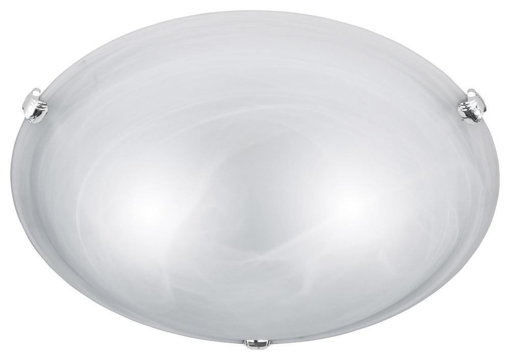 Plafoniere Per Lampade Led E27 : Adrian plafoniera vetro alabastro bianco d.40 nr.2 lampadine led