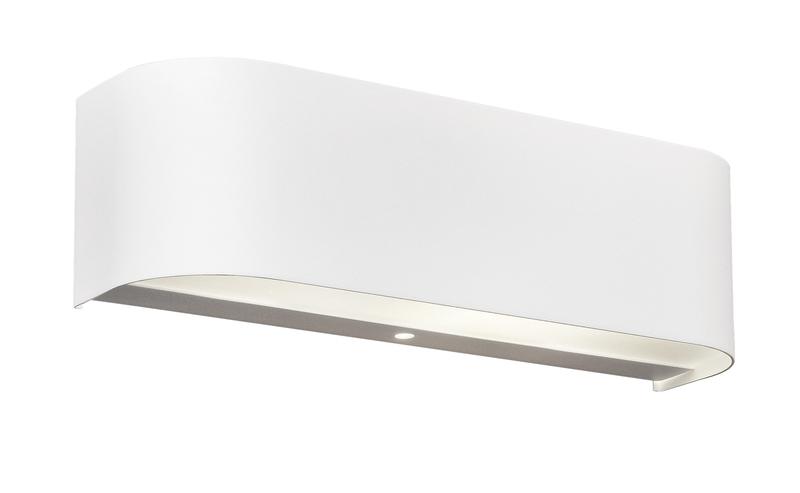 Adriano applique led fascia alluminio bianco cm nr lampadine