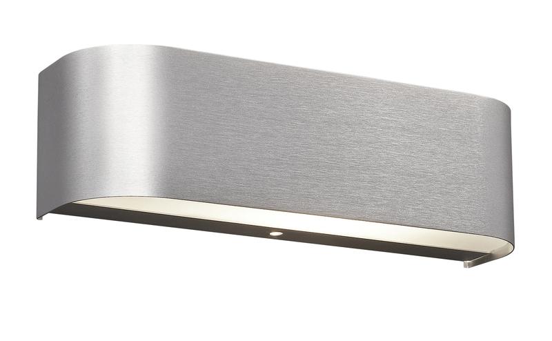 Adriano applique led fascia alluminio satinato cm nr