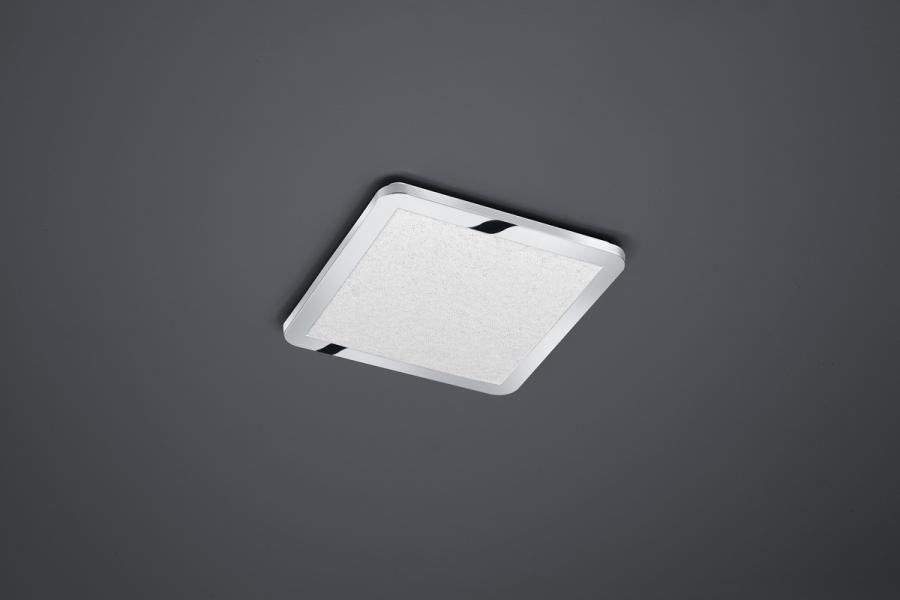 Plafoniera Quadrata Led : Cesar plafoniera led quadrata grande bordo cromato eff cristallo