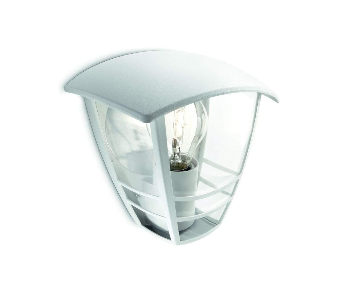 Creek lampada a muro bianco in alluminio xe w ip lampadina