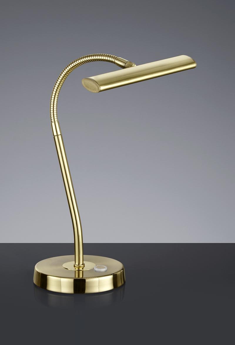 Lampada Da Scrivania In Ottone.Curtis Lampada Da Tavolo Led Ottone Con Flessibile Cm18xh35 Nr 1