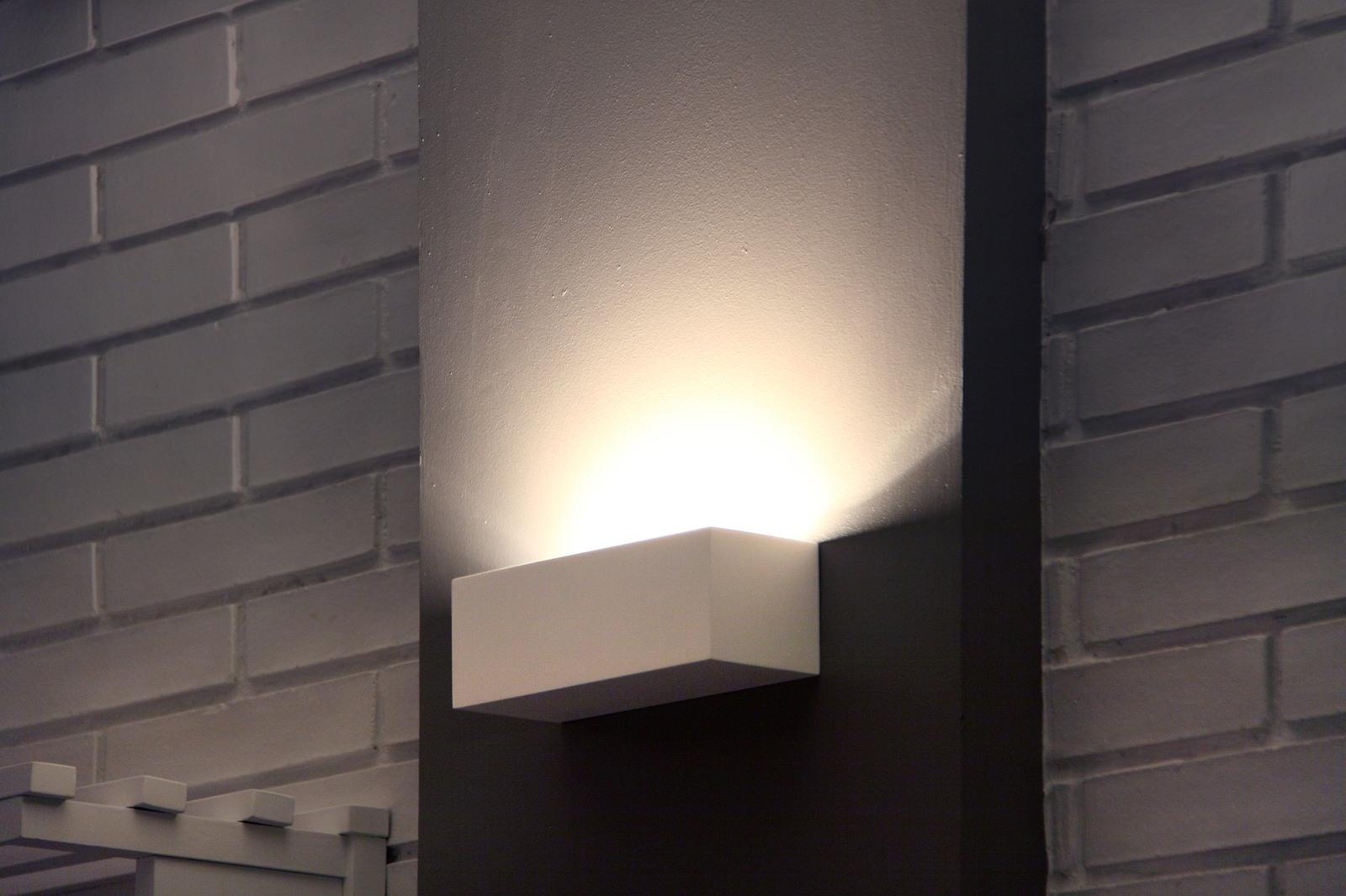 Plafoniere Da Parete Alternative : Eaco lampada da parete bianca una luce g w faro lorefar art