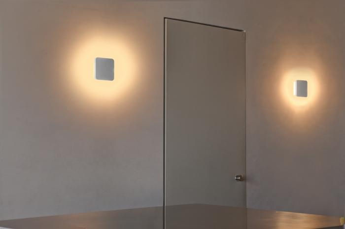 Plafoniere Da Parete A Led : Elsa lampada da parete bianca led 8w 2700k faro lorefar art. 63279