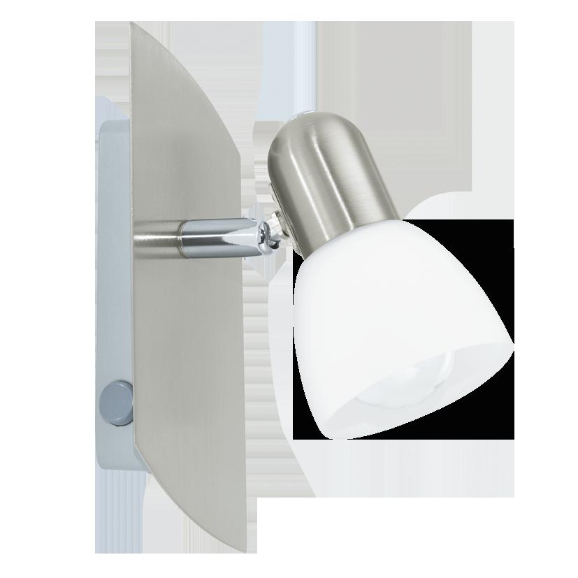 Lampadine Led X Faretti.Enea Spot Dimensioni 19 X 7 Lampadine Led In Omaggio 1x6w E14 Eglo 90982