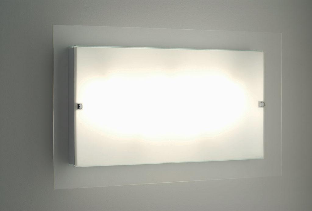 Plafoniere Moderne Rettangolari : Flat plafoniera 75x45 sp8 montatura bianca. lampadine 5xe27 max