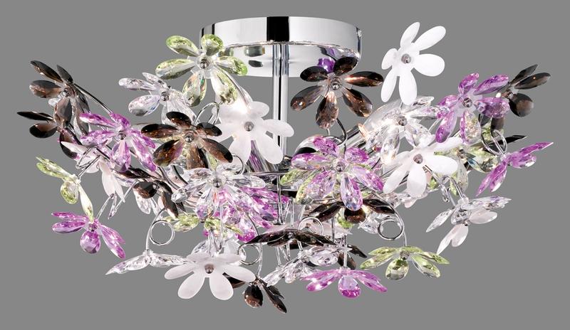Plafoniere Fiori : Flower plafoniera fiori acrilico trasparente e colore cm nr