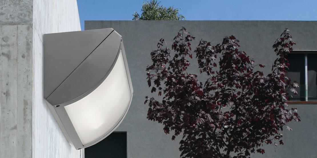 GRENADA Lampade da esterno Potenza 2x20W FBT Finitura Grigio Dimensioni  27x14 IP54 - PAN EST146
