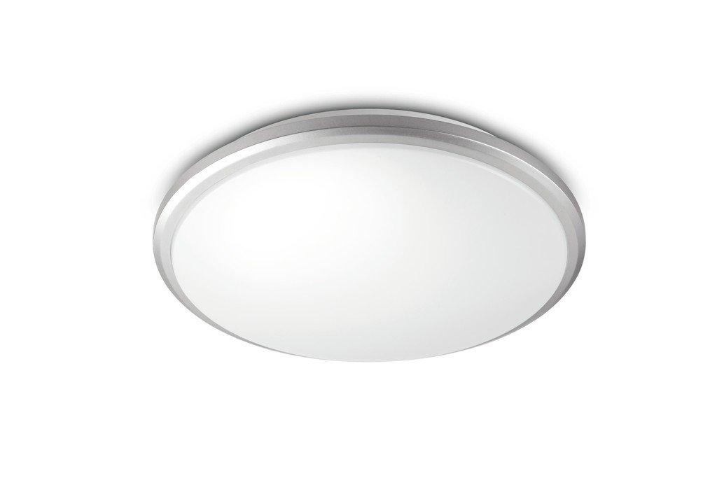 Plafoniera Bagno : Guppy plafoniera bagno grigio 12w 1xled integrato ip44 1200lumen