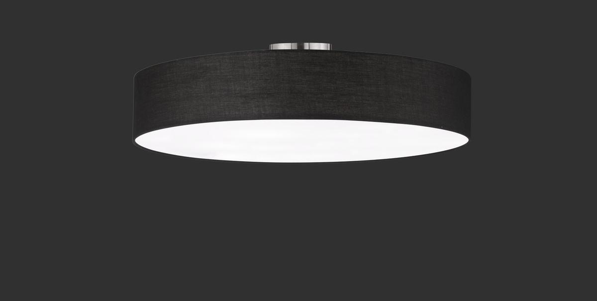 Plafoniere Per Hotel : Hotel plafoniera tonda luci diffusore tessuto nero e metacrilato