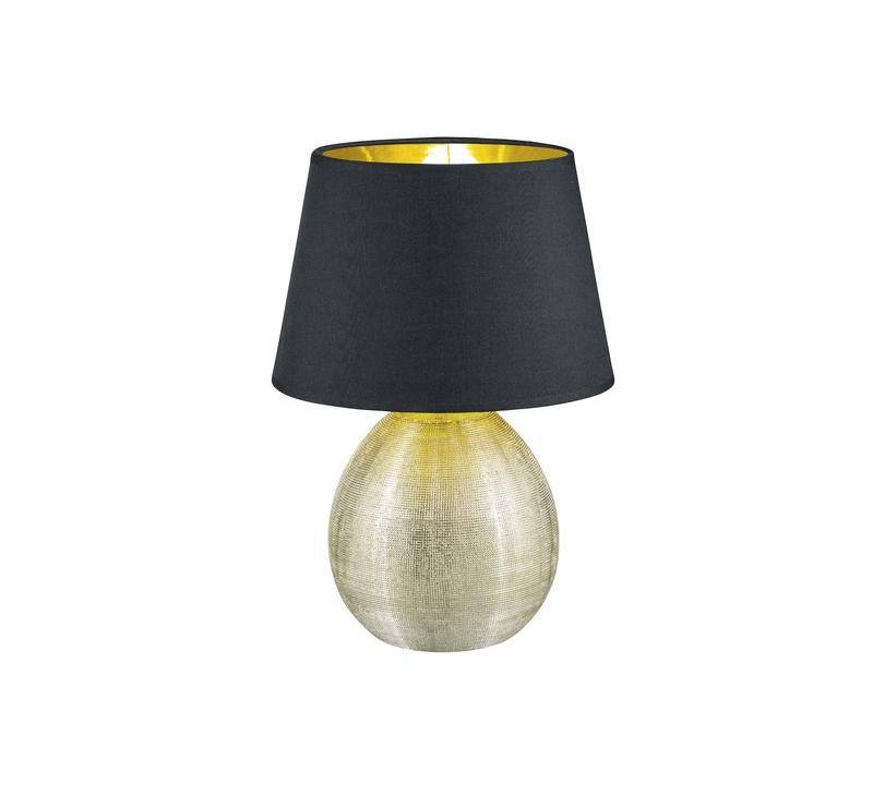 Medialux Luxor Lampada Tavolo Grande Base Ceramica Oro E Paralume Nero Interno Oro H 35cmd 24cm Nr 1 Lampadine Led Compatibili In Omaggio Attacco E27 Trio R50631079