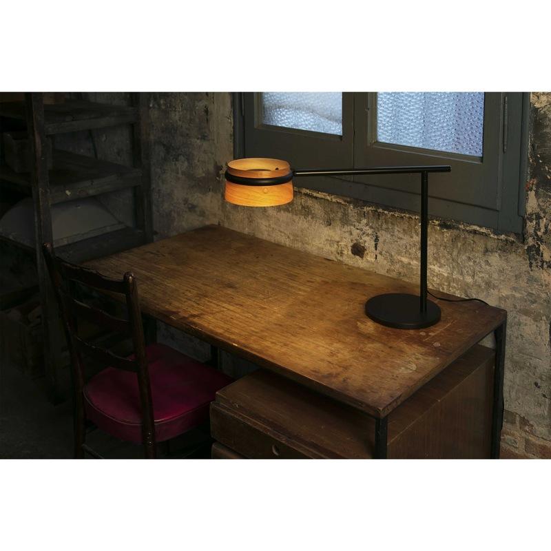 Loop lampada da tavolo + clip led 6w 2700k corpo in metallo e legno ...
