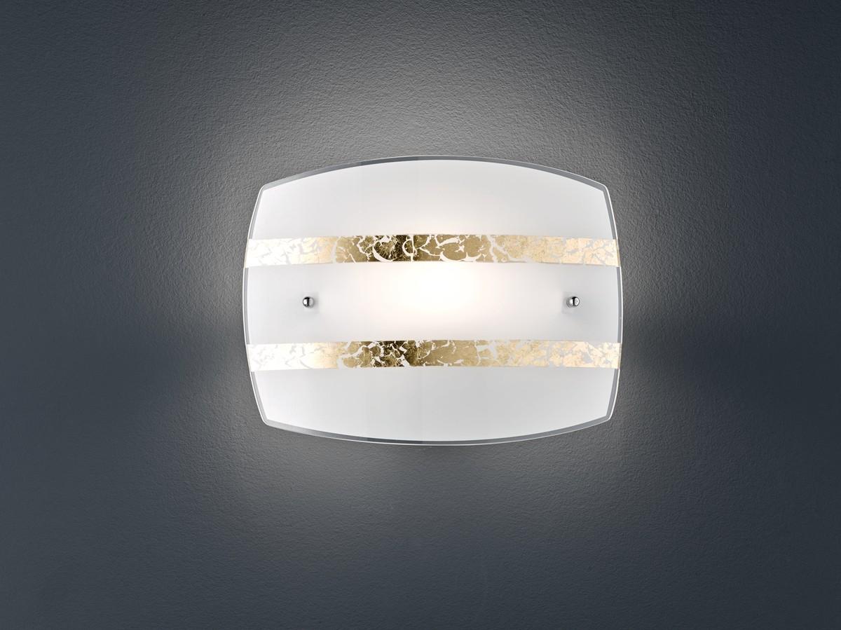 Nikosia applique vetro bianco e foglia oro cm nr lampadine