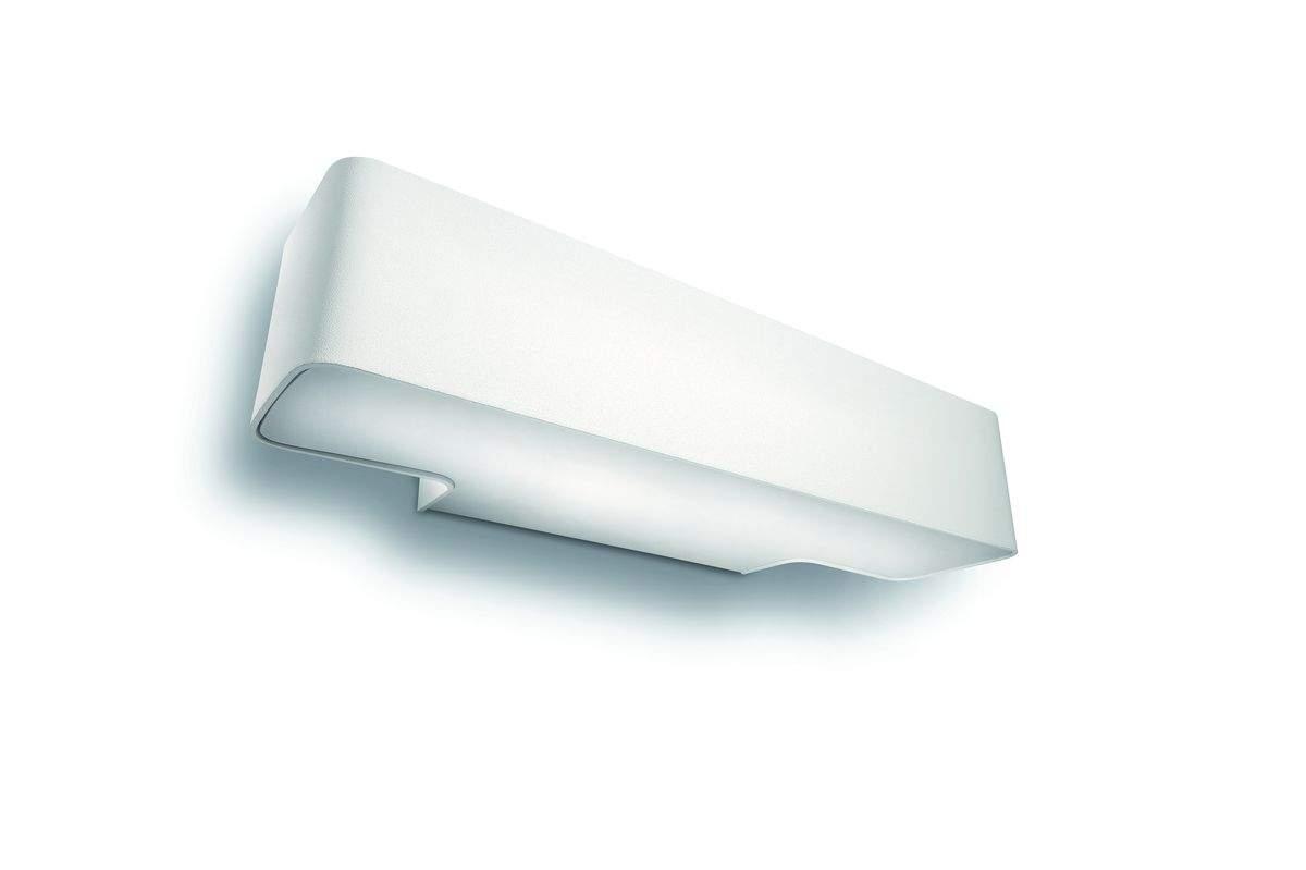 Peace lampada a muro bianco in metallo g w ip lumen art