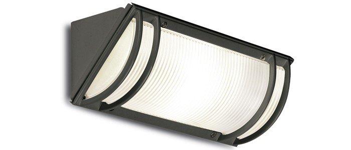 Angolo e27 15w 230v lampade da esterno antracite pan est140 - Plafoniere da esterno ...