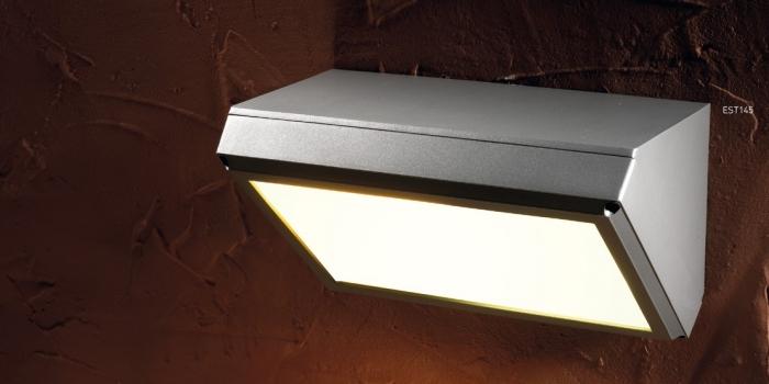Grenada quadrato e27 2x20w 230v lampade da esterno grigio - Lampade per esterno a led ...