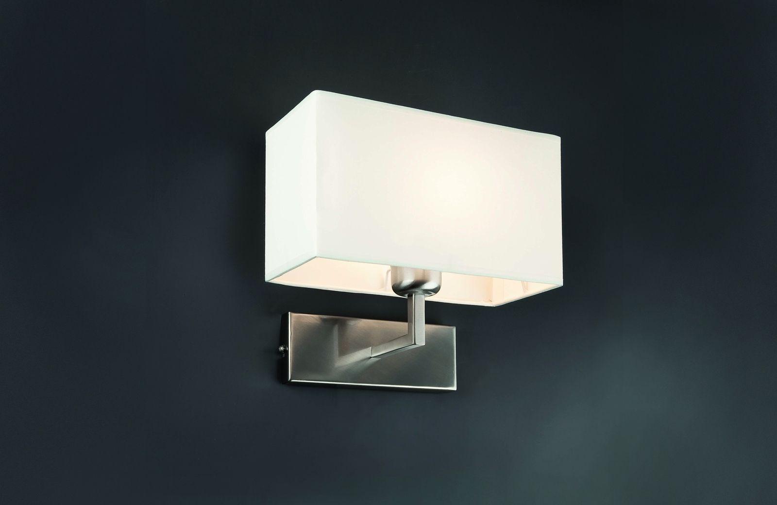 Roda lampada da parete nichel spazzolato una lucexe max w