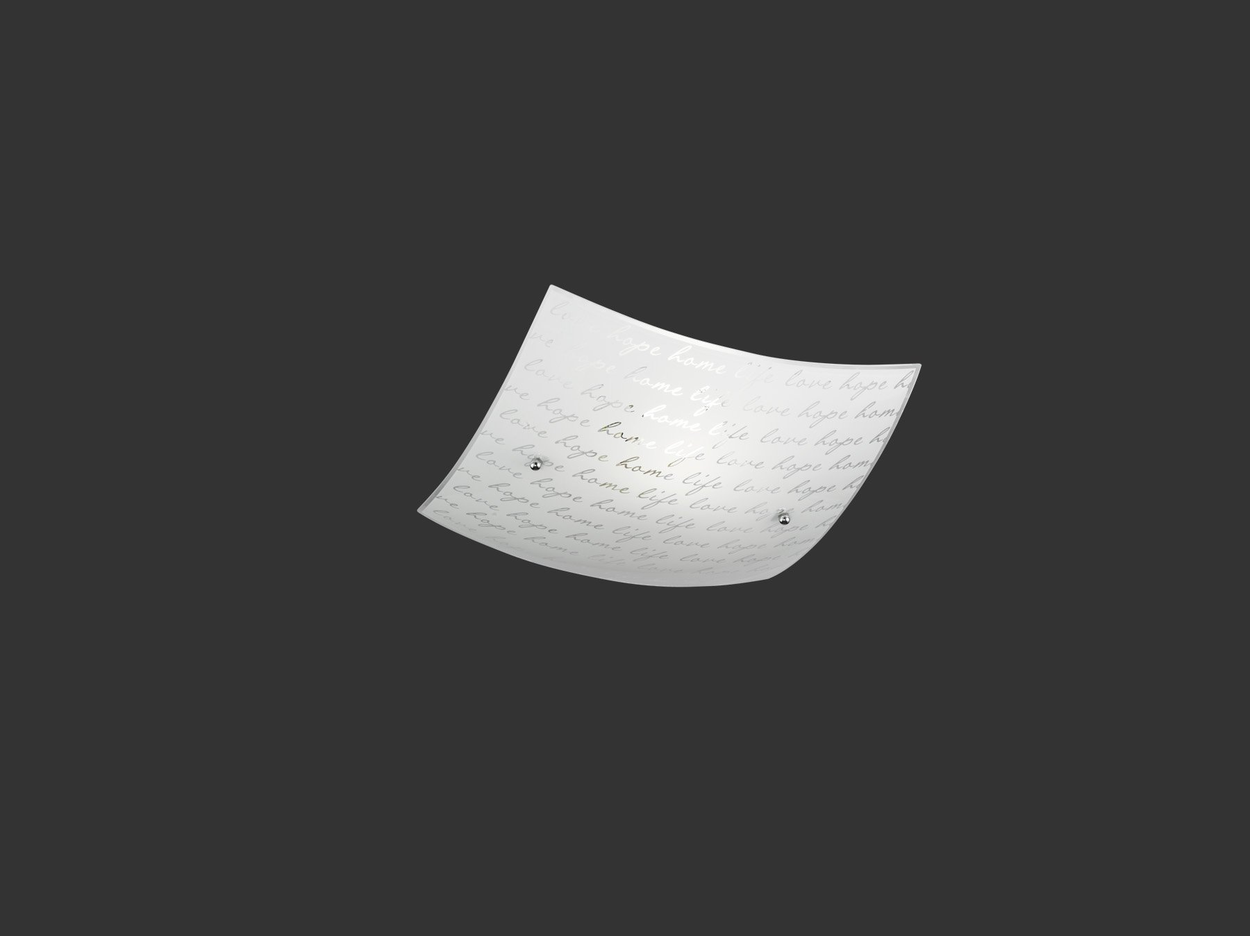 Plafoniera Quadrata Led : Signa plafoniera quadrata vetro decoro firma d cm nr