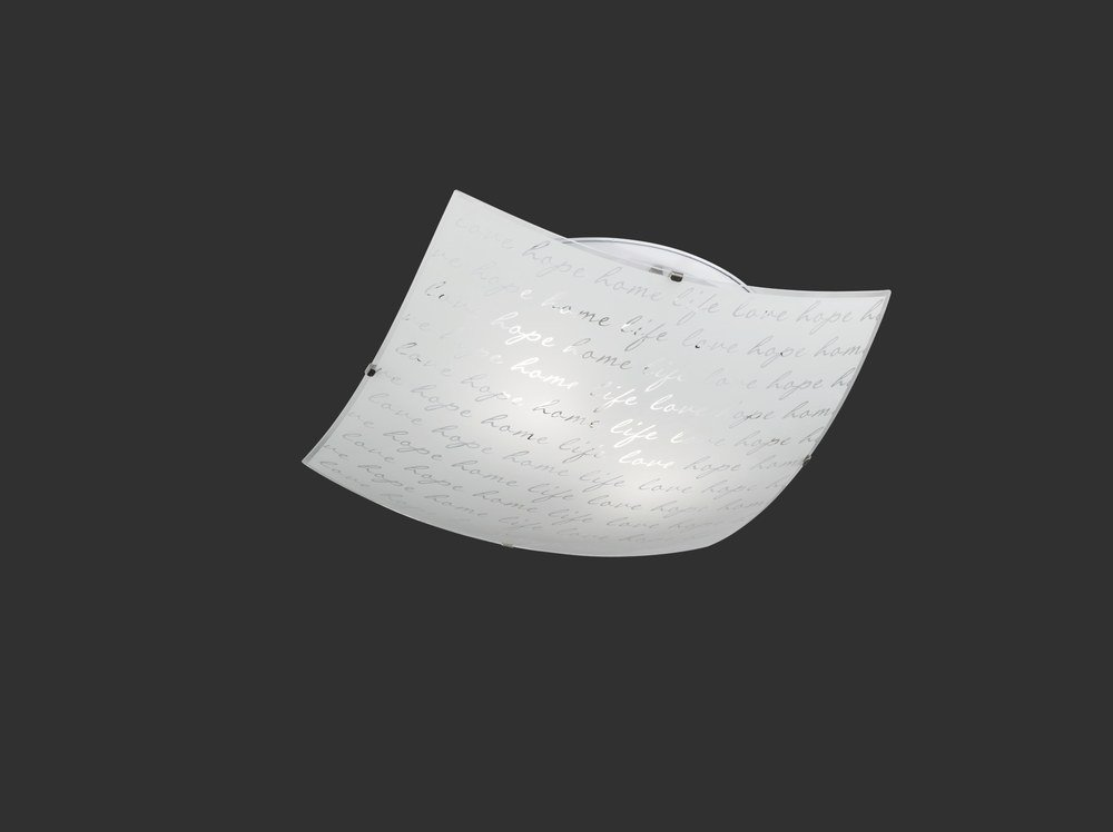 Plafoniera Quadrata Vetro : Signa plafoniera quadrata vetro decoro firma d cm nr