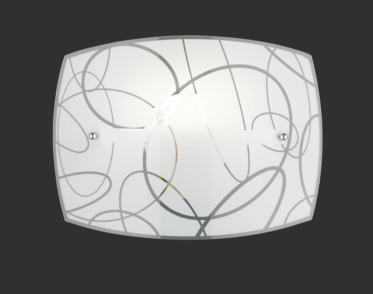 Spirelli applique rettangolare vetro decoro cerchi l cm h cm