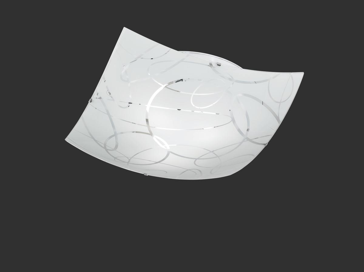Plafoniera Quadrata Led : Spirelli plafoniera quadrata vetro decoro cerchi d cm nr
