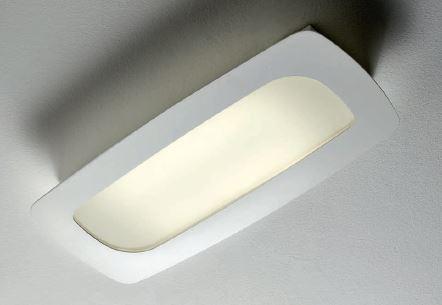 Stone applique plafoniera 48 6x21 9 vetro bianco. montatura