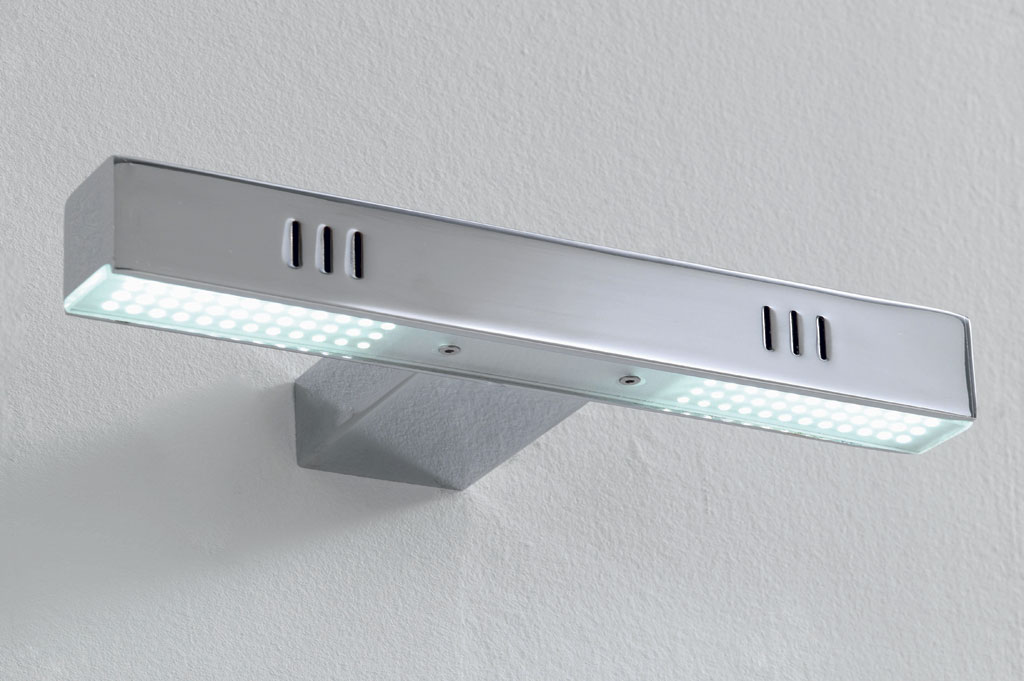 Teo applique l24 sp10 h3 montatura metallo cromato led 36 led