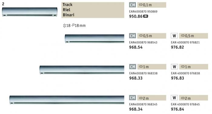 Urail binario elettrificato 230v l 1m colore bianco w for Binario paulmann