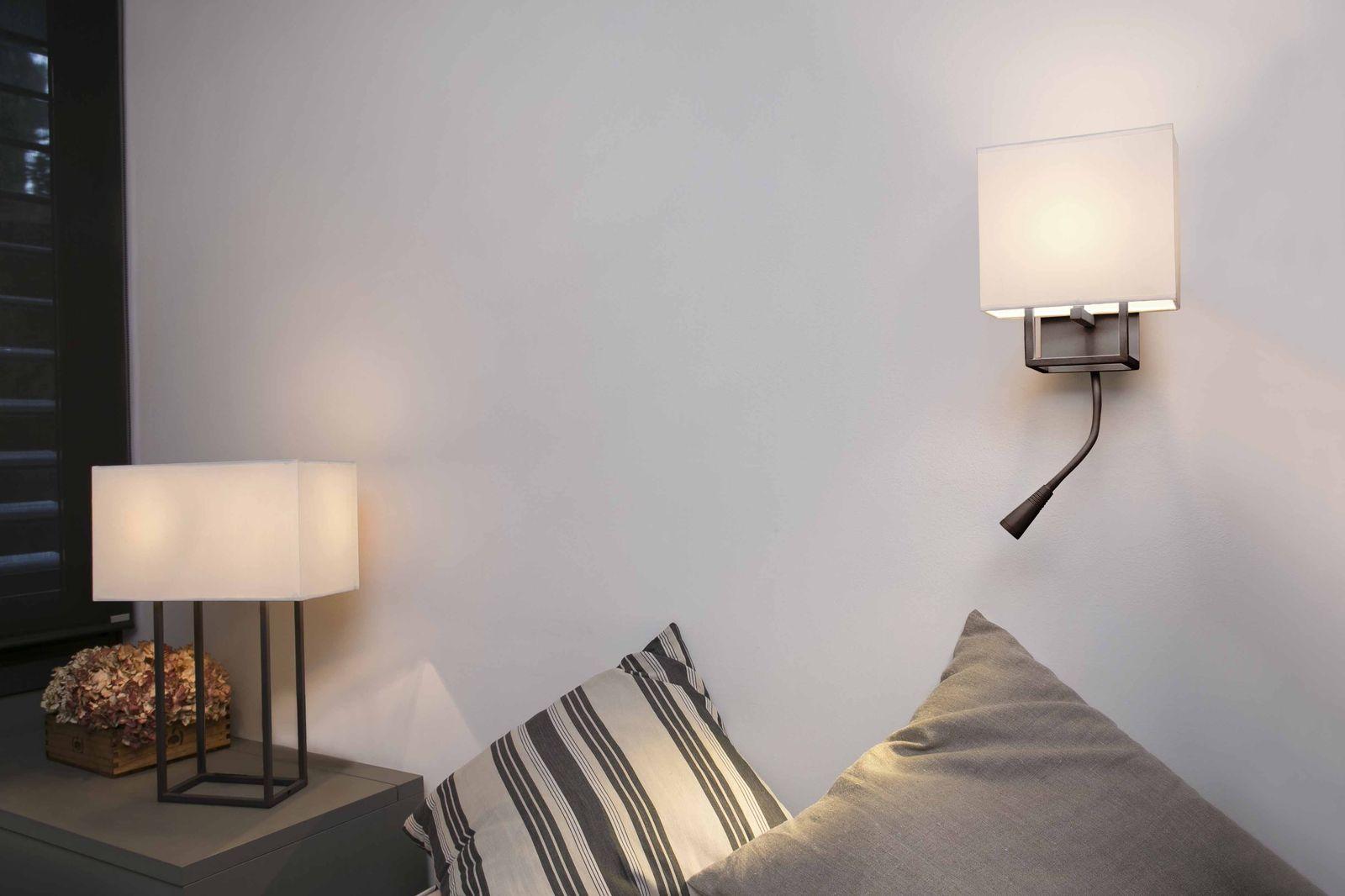Vesper lampada da parete marrone e w lampada da lettura led