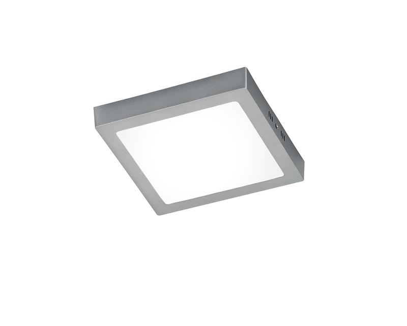 Plafoniera Led Quadrata : Zeus plafoniera led quadrata acciaio grande l.22 5x22 5 cm nr.1
