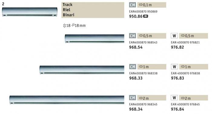 Medialux lampade illuminazione a prezzi ribassati urail binario bianco paulmann for Binario paulmann